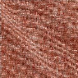 Kaufman Brussels Washer Linen Blend Yarn Dye Redrock