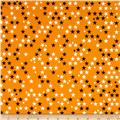 Riley Blake Halloween Magic Glow in the Dark Stars Orange