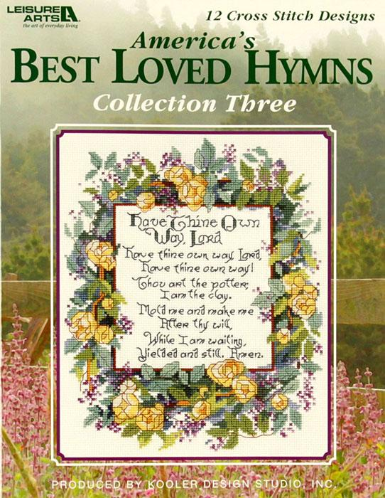 Leisure Arts ''America's Best Loved Hymns'' Collection Three Cross Stitch Book