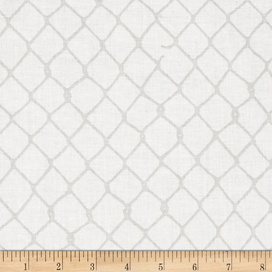 Image of Grafic Chain Link Fence Birch Fabric