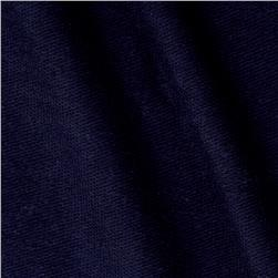 Stretch Rayon French Terry Solid Dark Blue