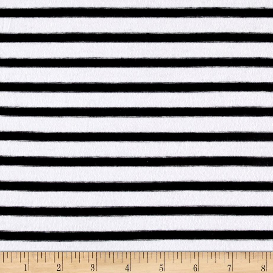 Jersey Knit Fashion Small Stripe Black and White Fabric By The Yard