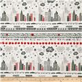 The Big Apple Skyline Grey/Red