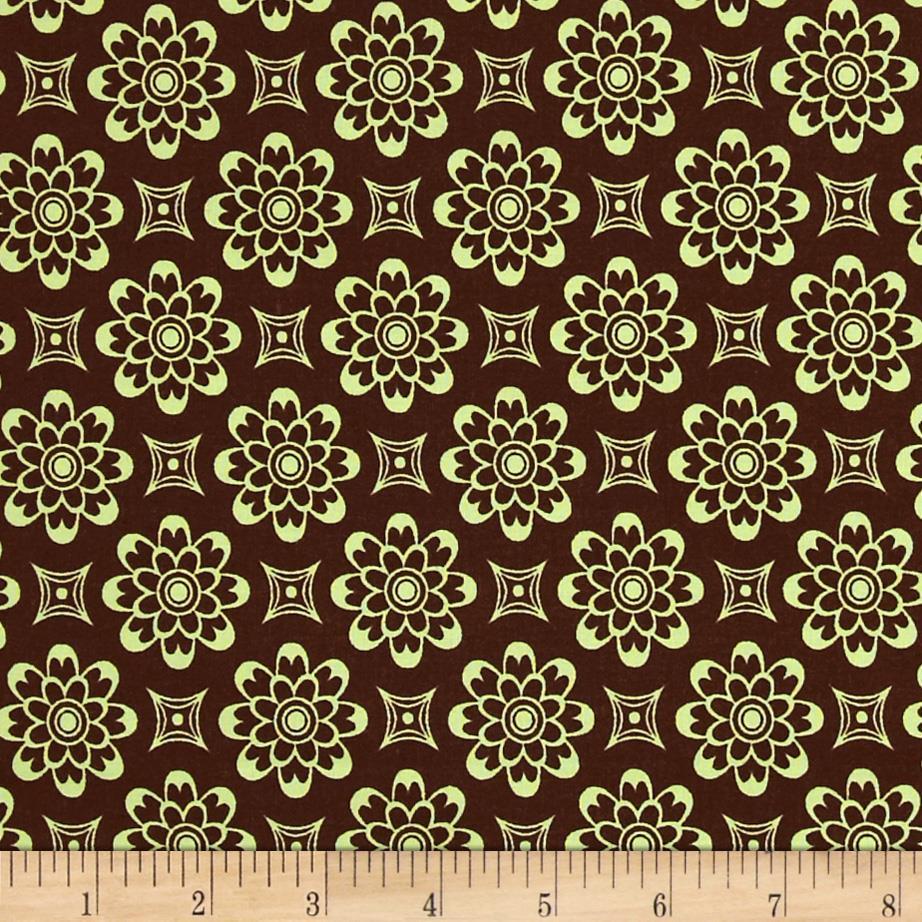 Pimatex Basics Floral Celery/Brown