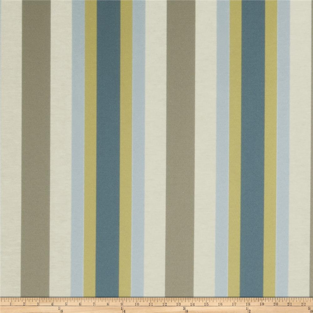 Jaclyn Smith 02621 Bank Stripe Blend Indigo