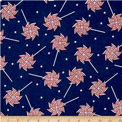 Patriotic Prints Pinwheel Blue