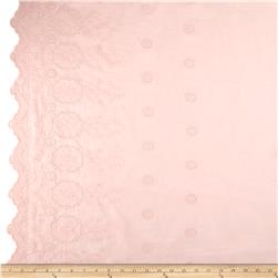 Cotton Eyelet Double Border Floral Pink