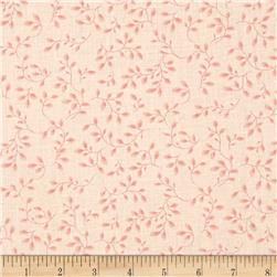 108'' Wide Quilt Backing Folio Vines Pale Pink