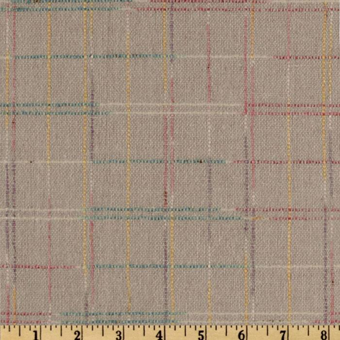 Wool Blend Coating Color Plaid Pale Pink/Multi