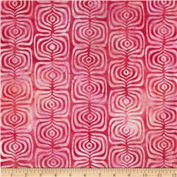 Indonesian Batiks Pop Art Stripe Hot Pink