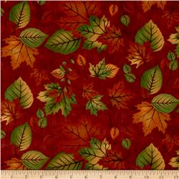 Moda Endangered Sanctuary Flannel Autumn Leaves Mahogany