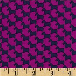 Michael Miller Scottie Houndstooth Jewel Fabric