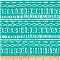 Cotton + Steel Printshop Stitch Turquoise