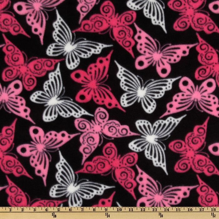WinterFleece Butterfly Black/Pink
