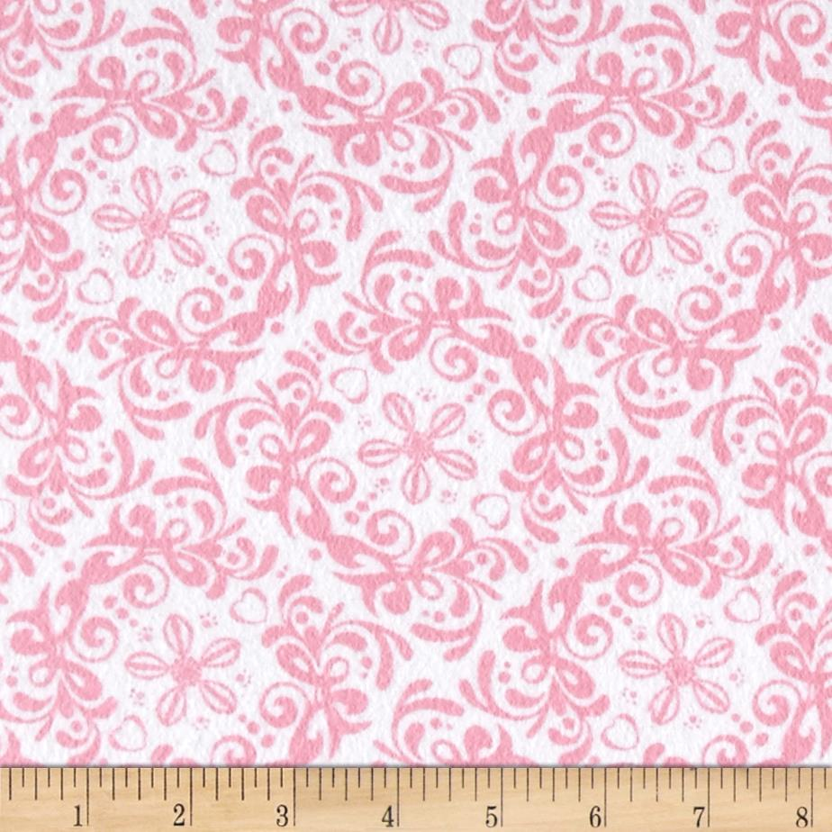 Flannel rococo pink discount designer fabric for Fabric purchase