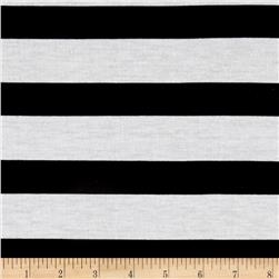 Jersey Knit Black Stripe on White