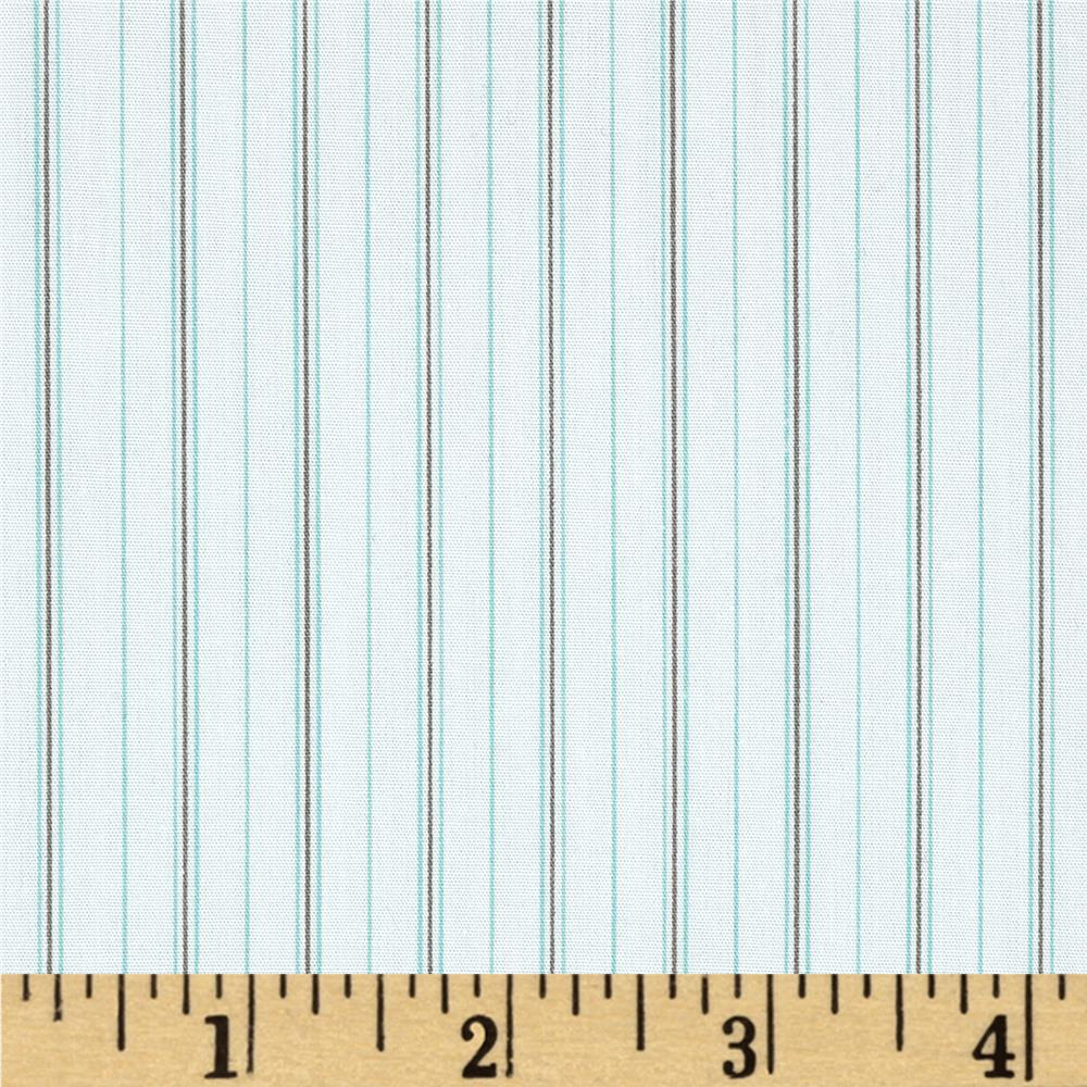 Shirting Stripes Aqua/Grey
