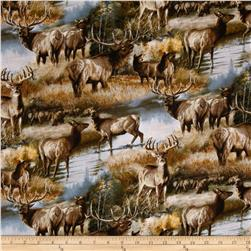 Animal Love 2 Elks & Deer in Autumn Multi