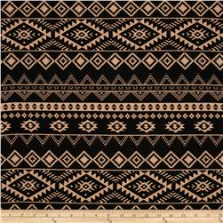 Crepe Georgette Aztec Black/Tan Fabric