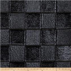 Fabricut Silver Faux Leather Ebony
