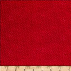 Color Burst Packed Dots Hot Red Fabric
