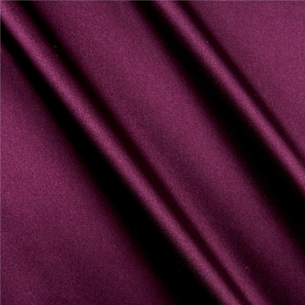 Silky Satin Charmeuse Solid Raisin Fabric