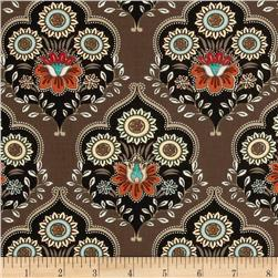 Caravan Damask Medallion Brown