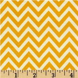 Riley Blake The Sweetest Thing Jersey Knit Chevron Gold