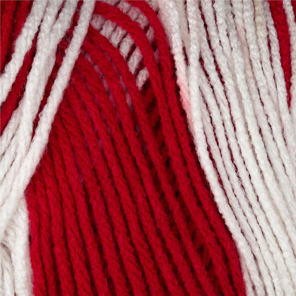 Red Heart Team Spirit Yarn (938) Red/White