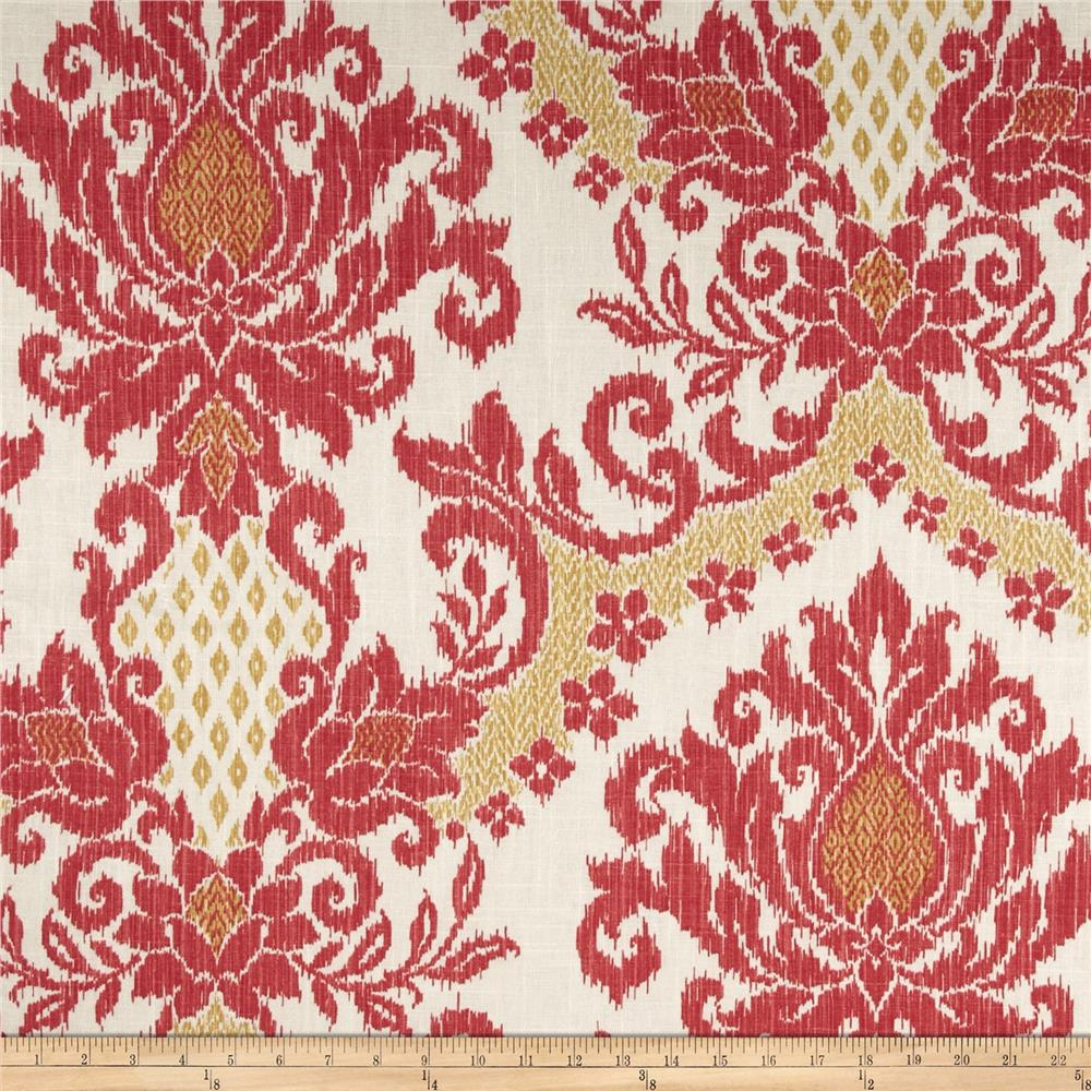 Ikat pattern drapery fabric discount ikat pattern - Zoom Waverly Bedazzle Ikat Blend Clementine