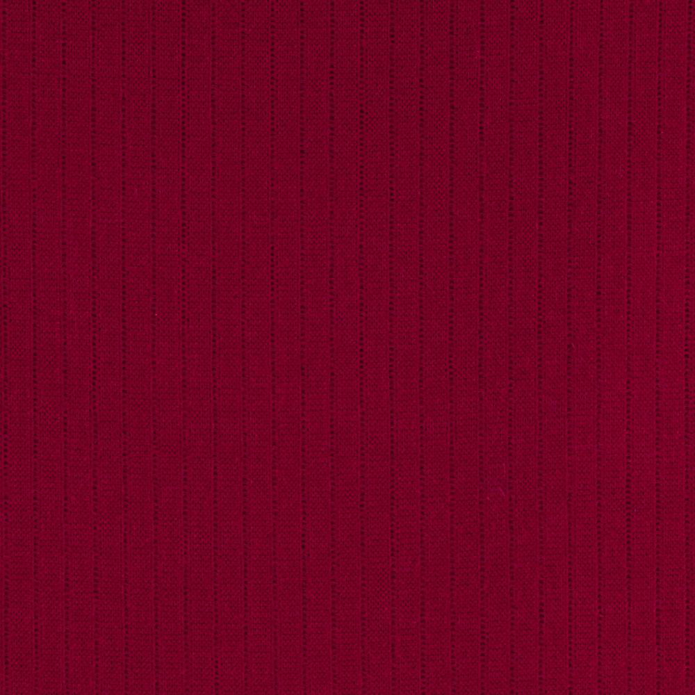 Stretch Rayon Rib Knit Red