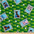The Farm At Whistlepig Creek Flannel Animals Green