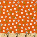 Riley Blake Summer Song 2 Flannel Petals Orange