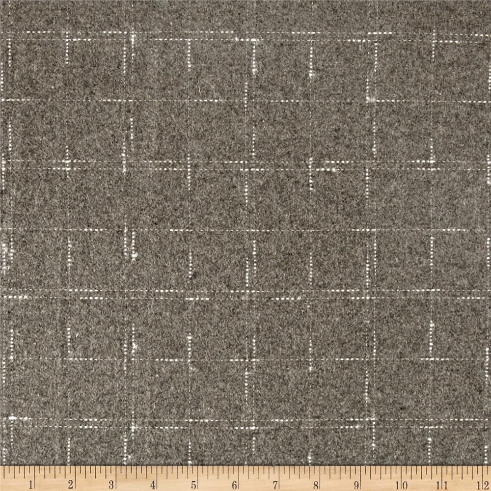 Telio Ansel Wool Plaid Grey