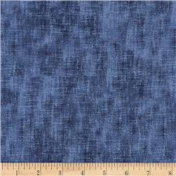 "Timeless Treasures 108"" Extra Wide Studio Texture Denim"