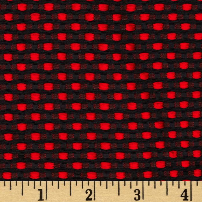 Betty Jacquard Red/Black