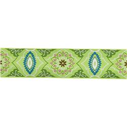 2'' Amy Butler Brocade Ribbon Green/Olive