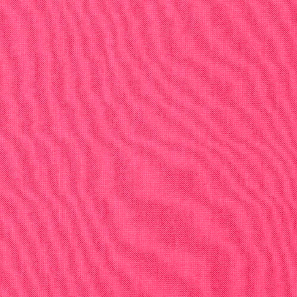 Solid Stretch Jersey Knit Neon Pink