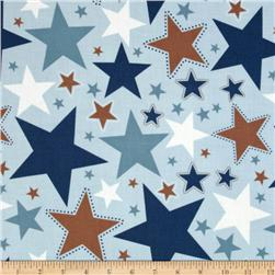 Riley Blake Super Star Large Star Blue