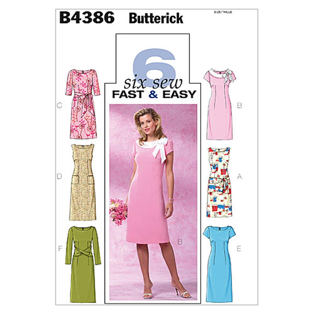 Butterick Misses'/Misses' Petite Dress Pattern B4386 Size BB0