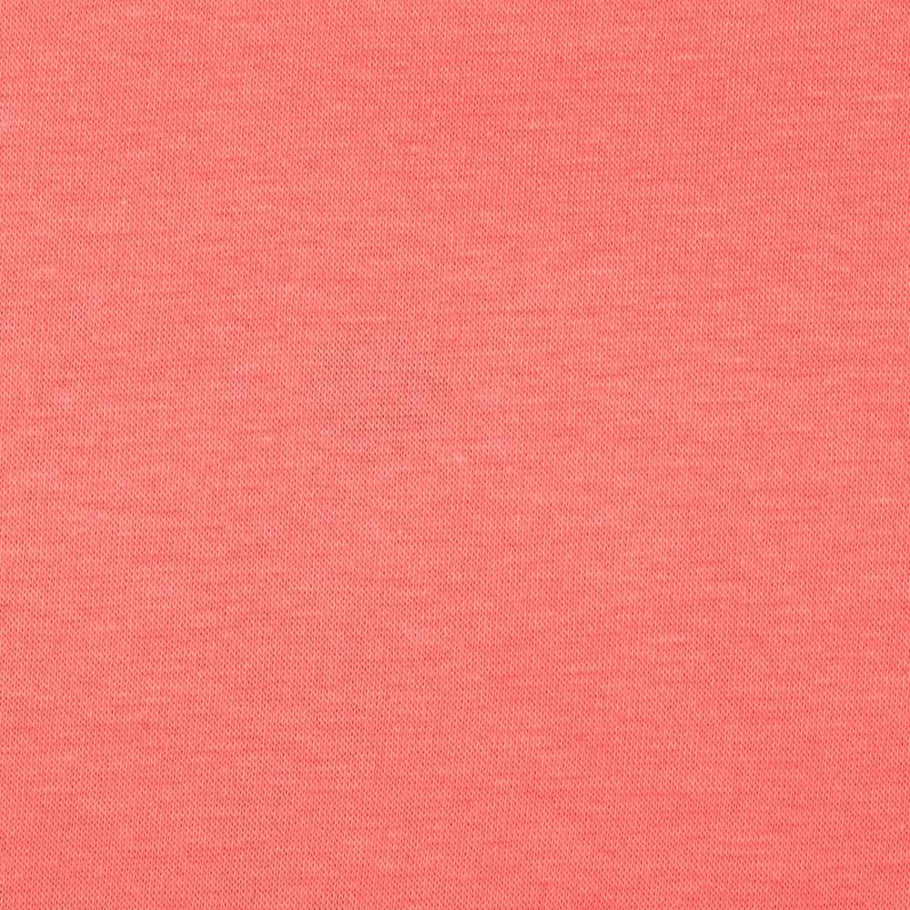 Cotton Spandex Jersey Knit Solid Bubble Gum Coral