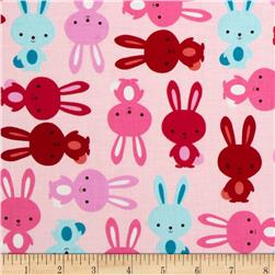 Urban Zoologie Bunnies Blush Fabric