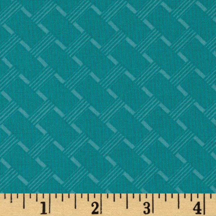 Michael Miller Daydream Cottage Path Aqua Fabric