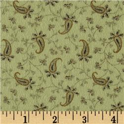 Bonsoir Flannel Small Paisley Green
