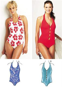 Kwik Sew Halter Swimsuits Pattern