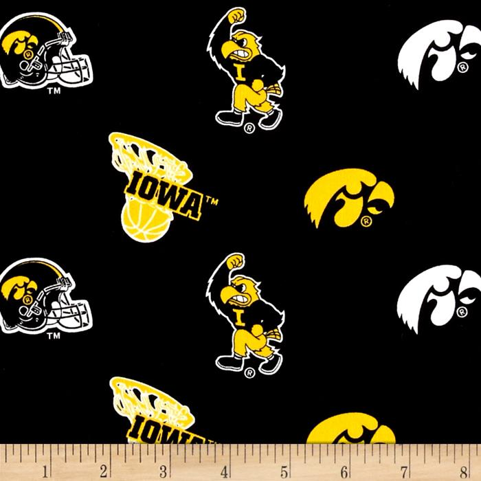 Collegiate Cotton Broadcloth Iowa Fabric By The Yard