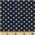 Indigo Nature Dots Indigo/Cream
