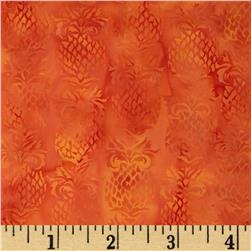 Island Batik In the Summertime Pineapple Orange