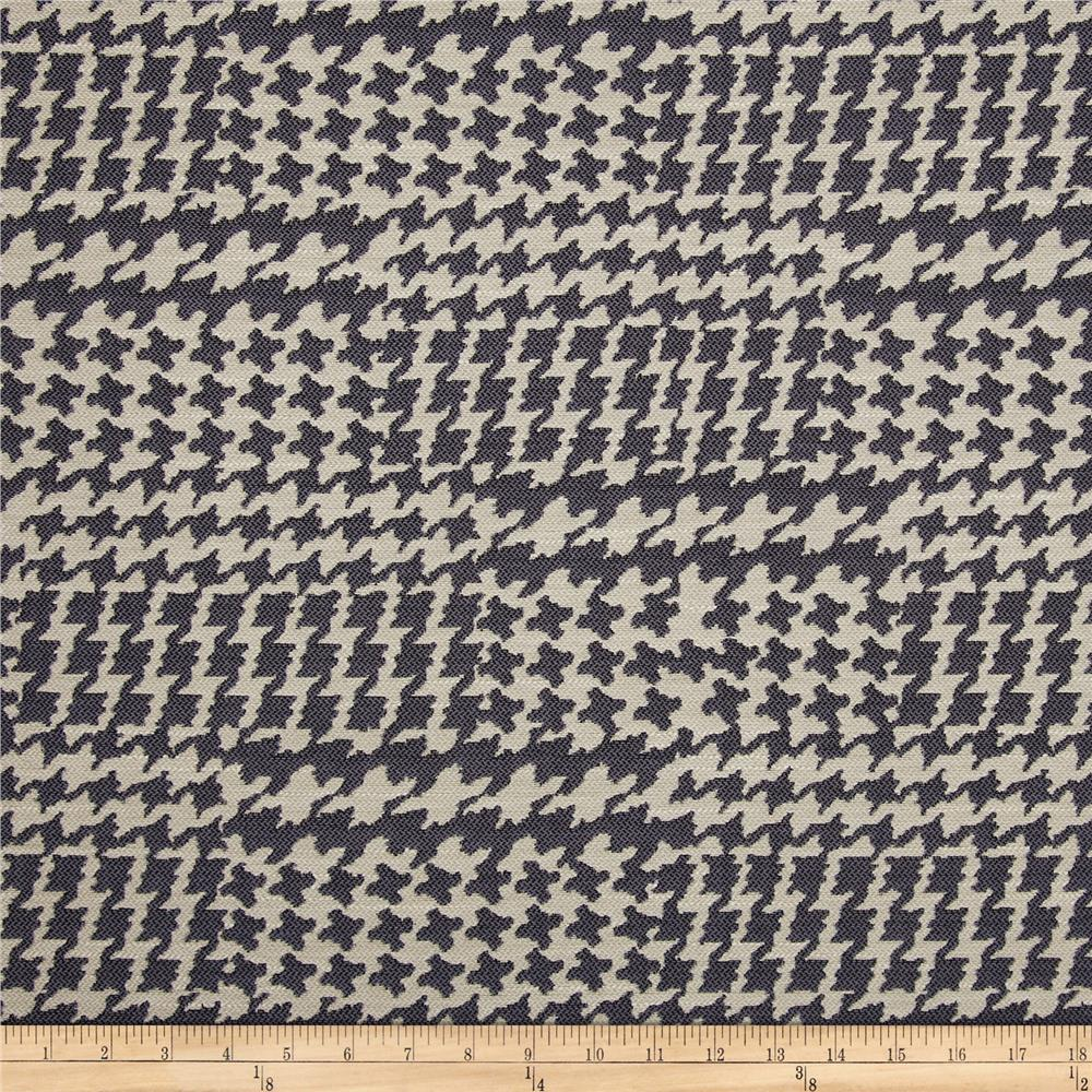 Richloom Pairpoint Houndstooth Jacquard Denim Blue