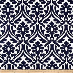 Premier Prints Holly Damask  Vintage Indigo